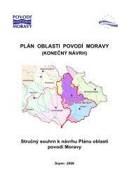 PLÁN OBLASTI POVODÍ MORAVY - Jihomoravský kraj