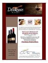 'Eat Local   Drink Local' Doukénie Wine Dinner ... - Doukenie Winery