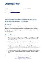 Remissvar Aktieägarnas rättigheter.pdf - Aktiespararna