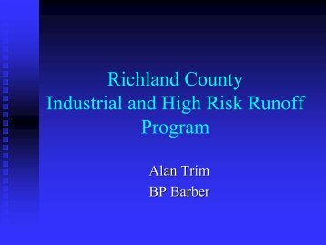Richland County Industrial and High Risk Runoff Program