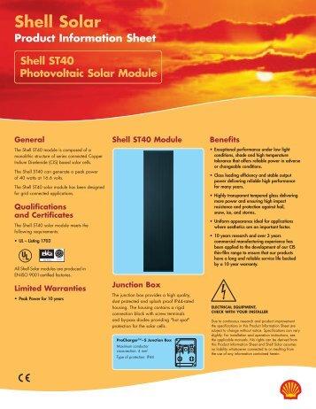 Shell Solar - Physics