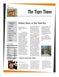 The Tiger Times - Central Magnet School