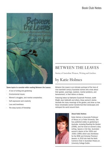 BETWEEN THE LEAVES by Katie Holmes - UWA Publishing