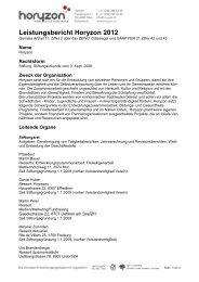 Horyzon Leistungsbericht 2012