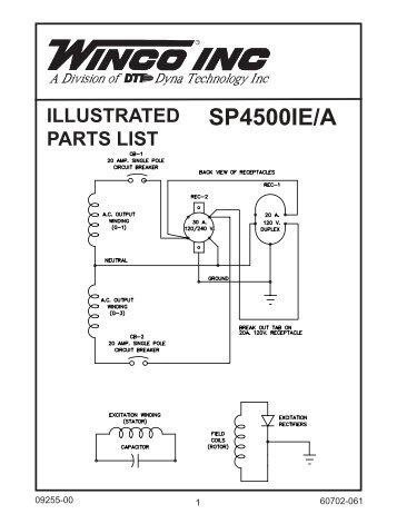 60702-061-parts-list-sp4500ie-a-winco-generators Winco Generator Wiring Diagram on winco generators dealers, winco generator accessories, stamford newage wiring diagrams, winco generators parts, winco pss8000, general electric circuit diagrams, winco generator manuals, winco 12000 watt generators craigslist,