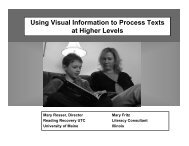 Mary Fritz - Using Visual Information to Process Texts at Higher Levels