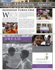 The Akshayah Annual