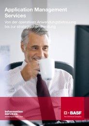 Application Management Services - BASF IT Services