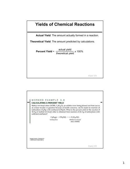 Ch 3 2 Formula moles and Equations