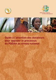 Guide à l'attention des donateurs pour appuyer le processus - CAADP