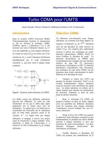 Turbo CDMA pour l'UMTS - Départements d'Enseignement-Recherche