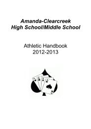 HS Athletic Handbook 2012-13 - Amanda
