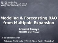 Modeling and forecasting BAO from multipole expansion - IPMU