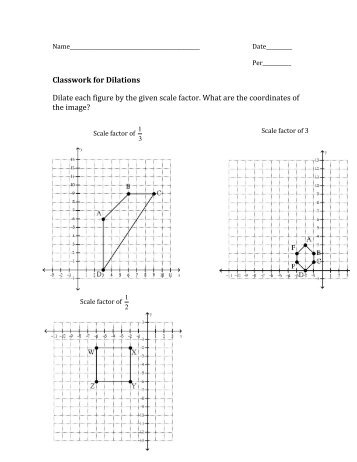 Dilations worksheet answer key