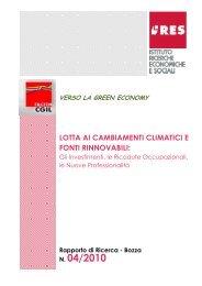Verso la green economy - Istituto di Ricerche Economiche e Sociali