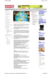 Seite 1 von 2 Woche Online 17.08.2007 http://www.woche.at/wz ...