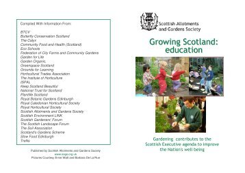 Leaflet - Scottish Allotments and Gardens Society