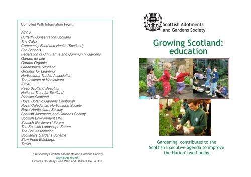 Leaflet - Scottish Allotments and Gardens Society