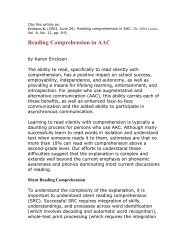 Reading Comprehension in AAC