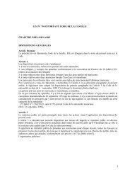 LOI N° 70-03 PORTANT CODE DE LA FAMILLE CHAPITRE ... - IDP