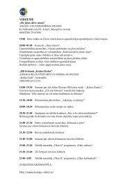 Muzeju nakts 2012 programma Vidzemē