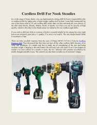 Cordless Drill For Nook Steadies