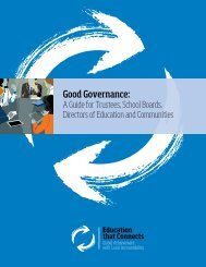 Good Governance: A Guide for Trustees, School Boards - OPSBA