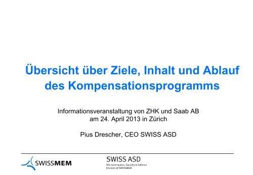 Pius Drescher, CEO SWISS ASD (pdf) - Saab