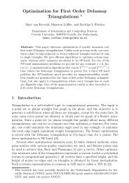 Optimization for First Order Delaunay Triangulations *