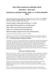 Bližší informace o celém semináři - Waldorfské lyceum Praha