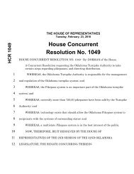 House Concurrent Resolution No. 1049 - Oklahoma Legislature