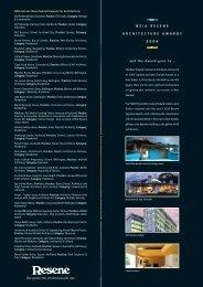 NZIA Resene Awards for Architecture 2006
