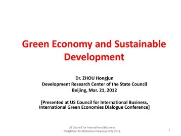 Presented - U.S. Council for International Business