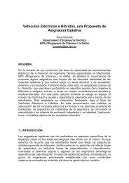 Vehículos Eléctricos e Híbridos, una Propuesta de Asignatura Optativa