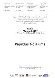 Rallijs Sarma 2013 – Papildus Nolikums LAT - Latvijas Automobiļu ...
