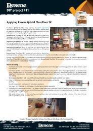 Applying Resene Qristal ClearFloor 2K polyurethane to floors