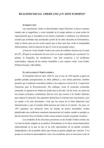 REALISMO SOCIAL AMERICANO Â¿UN ARTE EUROPEO? - Liceus