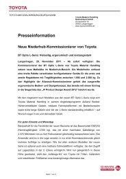Presseinformation - Toyota Material Handling Deutschland