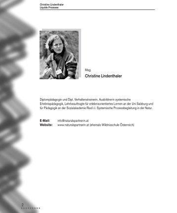 Christine Lindenthaler - Natur als Partnerin