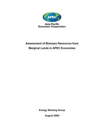 Assessment of Biomass Resources from Marginal Lands in APEC ...