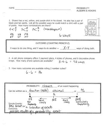 honors pre calculus probability worksheet 1 hinsdale township. Black Bedroom Furniture Sets. Home Design Ideas