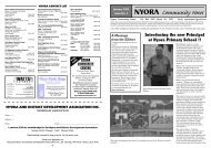 Nyora contact list - South Gippsland Shire Council