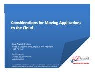Considerations for Moving Applications to the Cloud