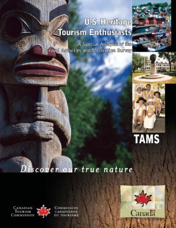 U.S. Heritage Tourism Enthusiasts - Canadian Tourism Commission ...