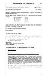 RECORD OF PROCEEDINGS - Pickerington Local School District