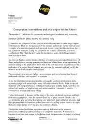Composites: innovations and challenges for the future - Compotec