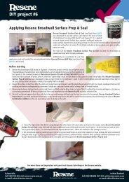 Applying Resene Broadwall Surface Prep & Seal to plasterboard