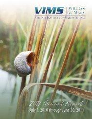 Download 2010-11 VIMS Annual Report - Virginia Institute of Marine ...