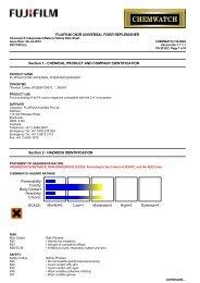 Chemwatch Australian MSDS 32-0804 - FUJIFILM Australia