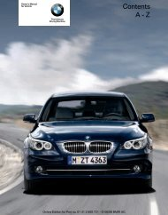 Online Edition for Part no. 01 41 2 600 721 - © 08/08 BMW ... - 5Series